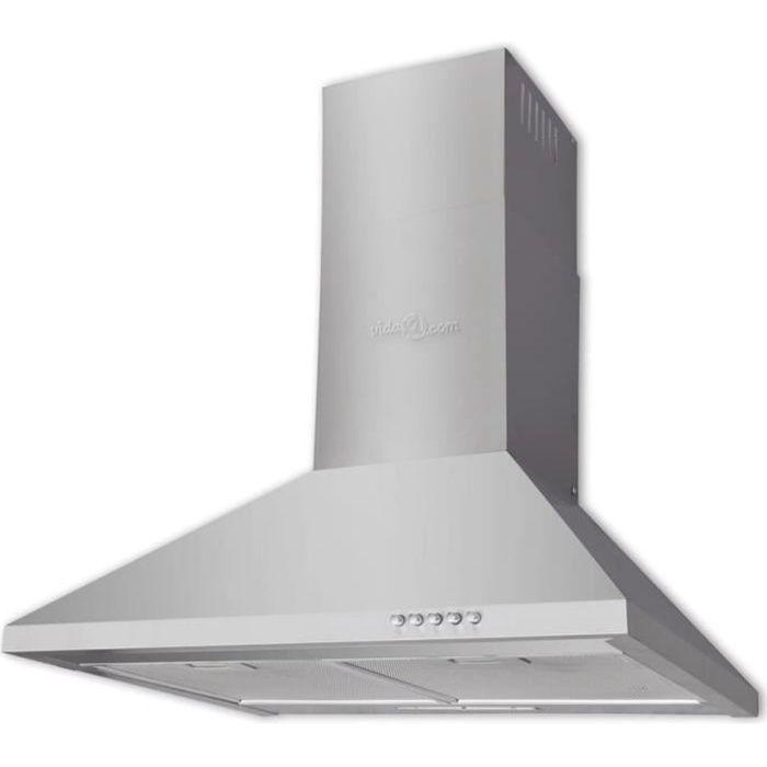 HOTTE Hotte plate en acier inoxydable 600 mm