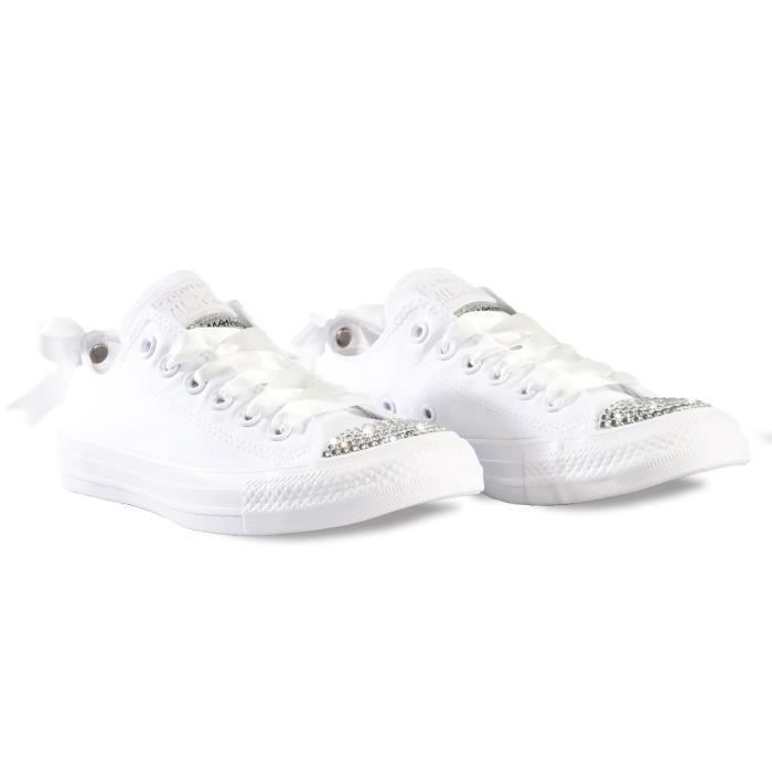 Convldwhox Coton Converse Femme Blanc Baskets 7f6gby
