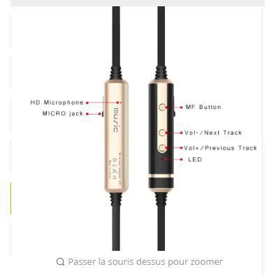 Son Entonnent H6 Écouteurs Bluetooth Sport Courir Casque Audio Sans Fil Avec Micro Gym Ipx4 Pour Iphone Huawei Xiaomi Sony