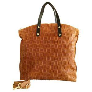 Sac shopping en cuir pour femme Pelago, made in Italy