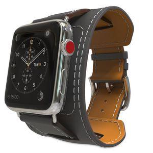 TÉLÉPHONE FACTICE bracelet en cuir iWatch 1 2 3 génération universel