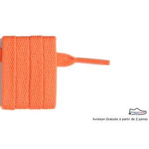 LACET  lacet plats orange fluo 80 cm