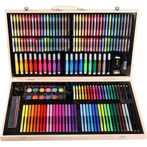 KIT PEINTURE Boite 180pcs accessoire Peinture Dessin Stylo Cray