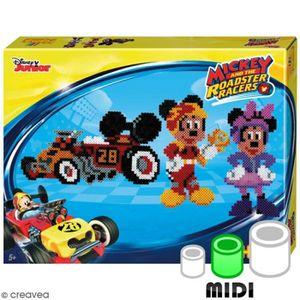 JEU DE PERLE Á REPASSER Kit Perles Hama  Midi - Mickey and The Roadster Ra