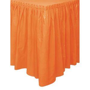 CHEMIN DE TABLE Tour de table en plastique orange