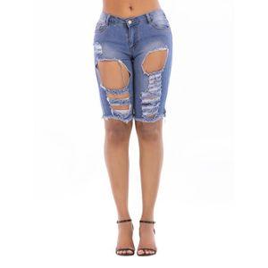 En Faits 2018 La Nouvelle Pantalon Trous Femme Jean À Short Main DeEW29IHY