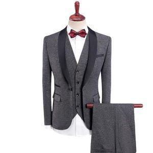2632927841f COSTUME - TAILLEUR Costume Homme 3 Pièces Cérémonie et Mariage Col Ch ...