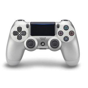 MANETTE JEUX VIDÉO Manette PS4 DualShock 4 Silver V2+2 boutons+1 led