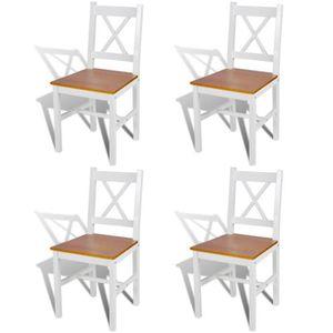 Salle a manger bois blanc achat vente salle a manger bois blanc pas cher - Chaise salle a manger blanc ...