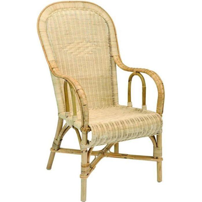 fauteuil adulte rotin haut dossier achat vente fauteuil cdiscount. Black Bedroom Furniture Sets. Home Design Ideas