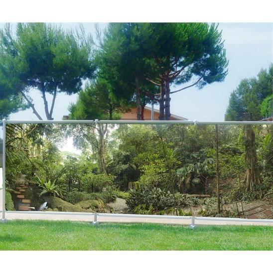 Brise vue imprimé, jardin, terrasse, balcon déco Forêt Occultation - 80%,  Dimensions - 200x78cm