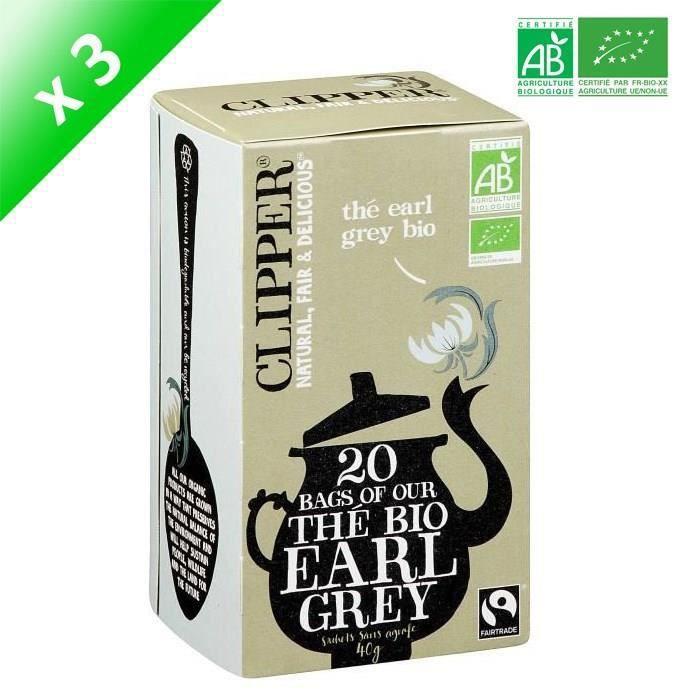 THÉ CLIPPER Thé Earl Grey Bio - 3x 40 g