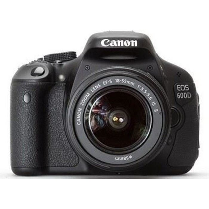 Canon eos 600d objectif ef s 18 55 mm f 3 5 5 achat for Housse canon eos 600d