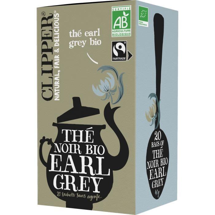 THÉ CLIPPER Thé Earl Grey Bio 40g