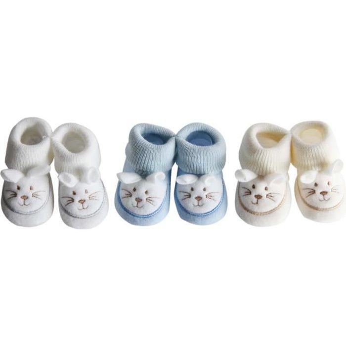 57cc0190c7d3d CHAUSSON - PANTOUFLE 3 paires de chaussures souples souris bébé garcon