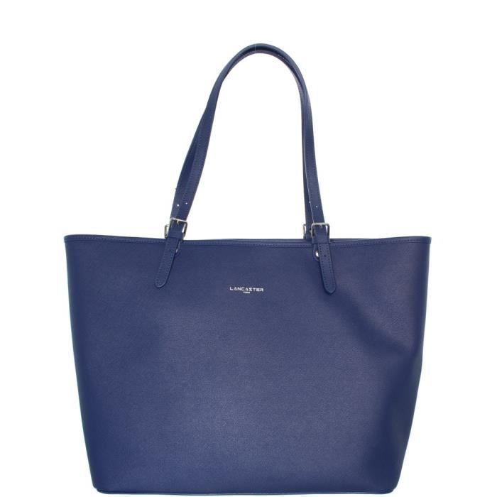 Sac Lancaster Adele porté épaule en cuir ref_lan40010-bleu foncé Bleu Foncé