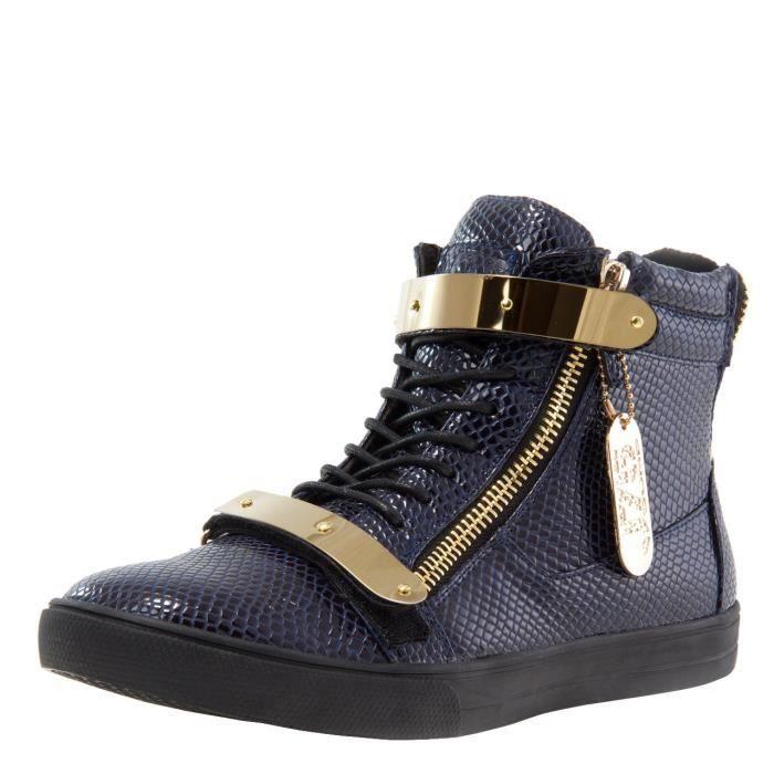 J75 ronde hommes Zion Toe strass Bracelet à lacets haut-top Sneaker AZ7IY Taille-39 1-2