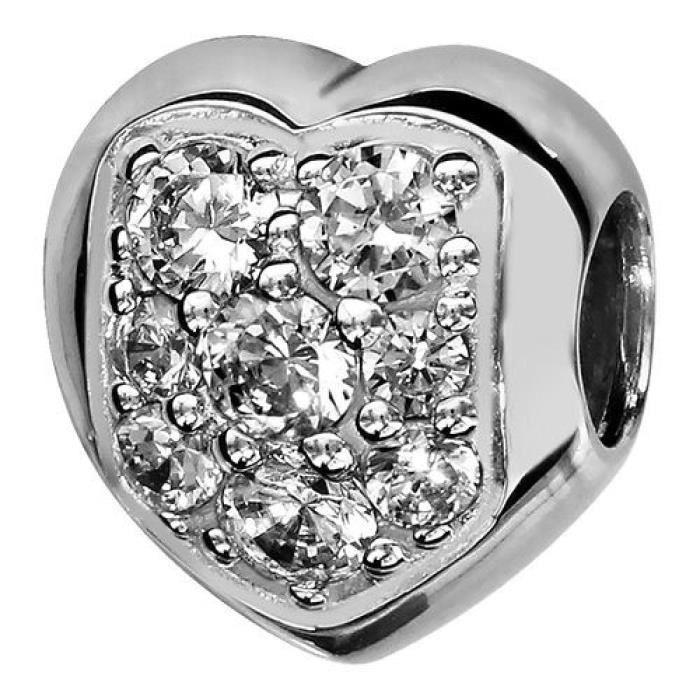 6 X Plaqué Argent Métal Coeur Charms 12-19 mm