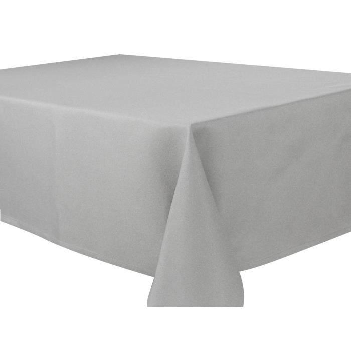 VENT DU SUD Nappe carrée polyester Mogador 160 x 160 cm - Acier ...