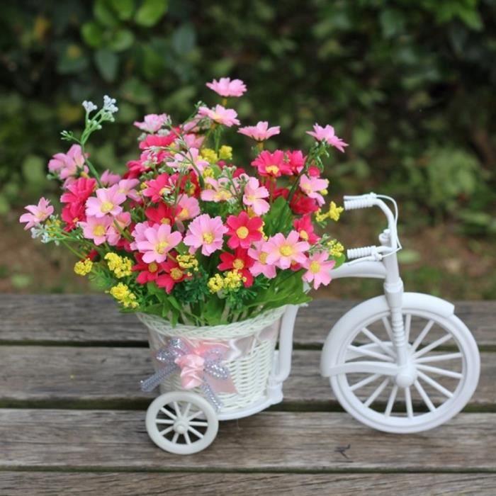 Décoration de vacances Jolie petite taille Panier fleurs Vase main ...