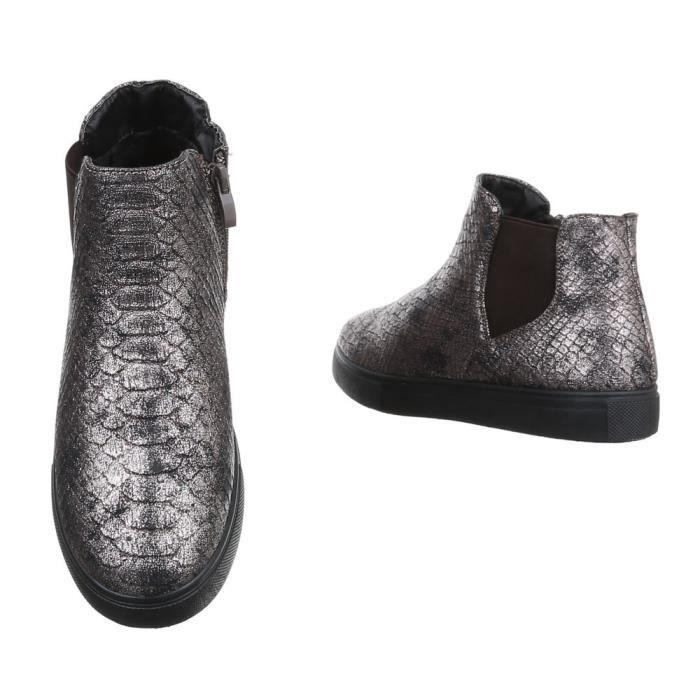 Femme chaussures bottillon loisirs chaussures bottes marron gris 41