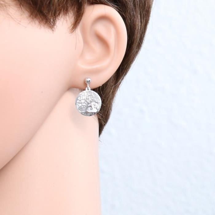 Boucles d oreilles Argent 925 ref 45289 Blanc