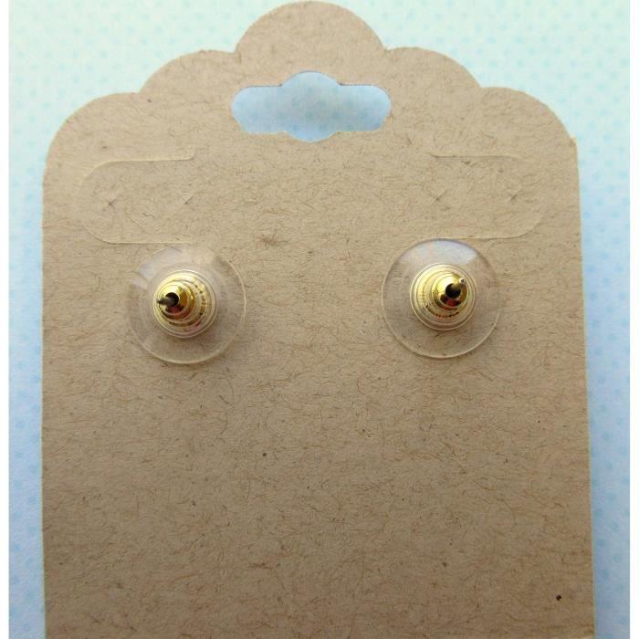 Craze Antiqued Gold-Tone Boucles doreilles 12mm Magenta Faux Druzy Pierre
