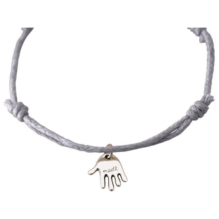 Gemshine - Dames - Bracelet - Gravure - CARE MOINS - Argent - Gris clair