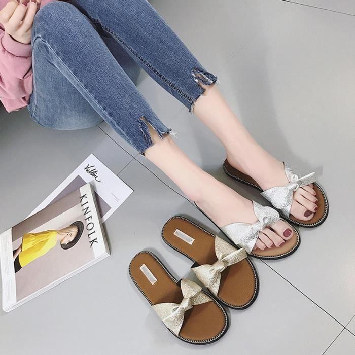 la de et d'été Slipper Femmes Light pour Sandales mode Simple plage chaussures Les Casual q6HRtx