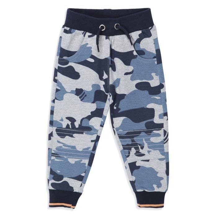 DIRKJE Jogging Motif Camouflage Bleu et Gris Enfant Garçon