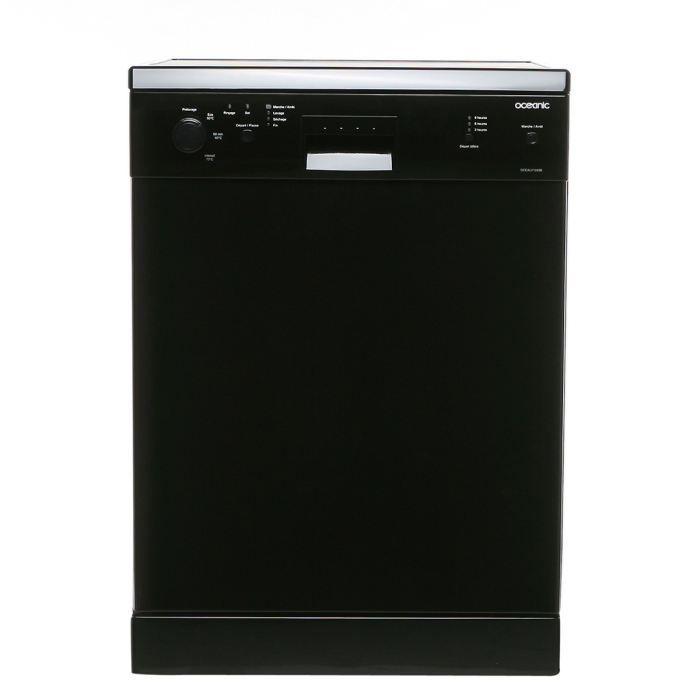 Oceanic ocealv1249b lave vaisselle achat vente lave - Lave vaisselle noir brillant ...