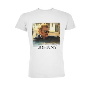 T-SHIRT T-Shirt Photo Johnny Hallyday - Homme - Blanc