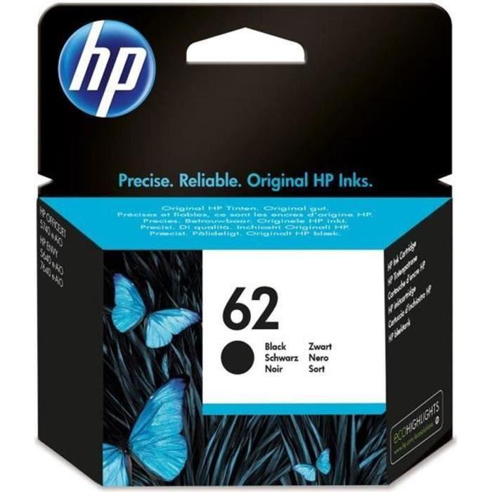 HP 62 cartouche d'encre noire authentique pour HP Envy 5540/5640/7640 (C2P04AE)