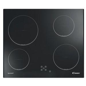 CANDY CH64C/2 Table de cuisson vitrocéramique-4 foyers-foyer principal 2300W-L59,5 x P51cm-Rev?tement verre-Noir