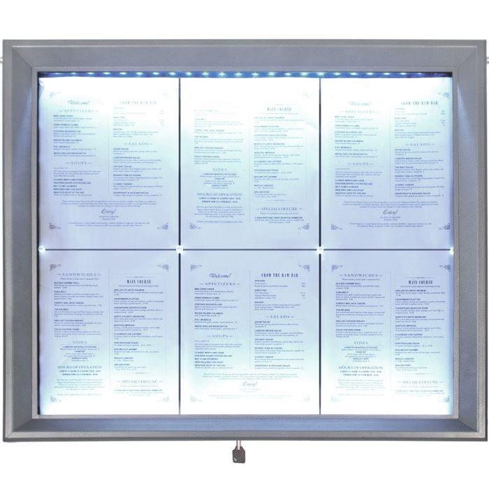 Porte menu éclairé LED 6x A4