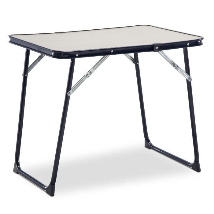 EREDU Table Pliante camping 804/Ds - 60 x 40 cm - Bleu et beige