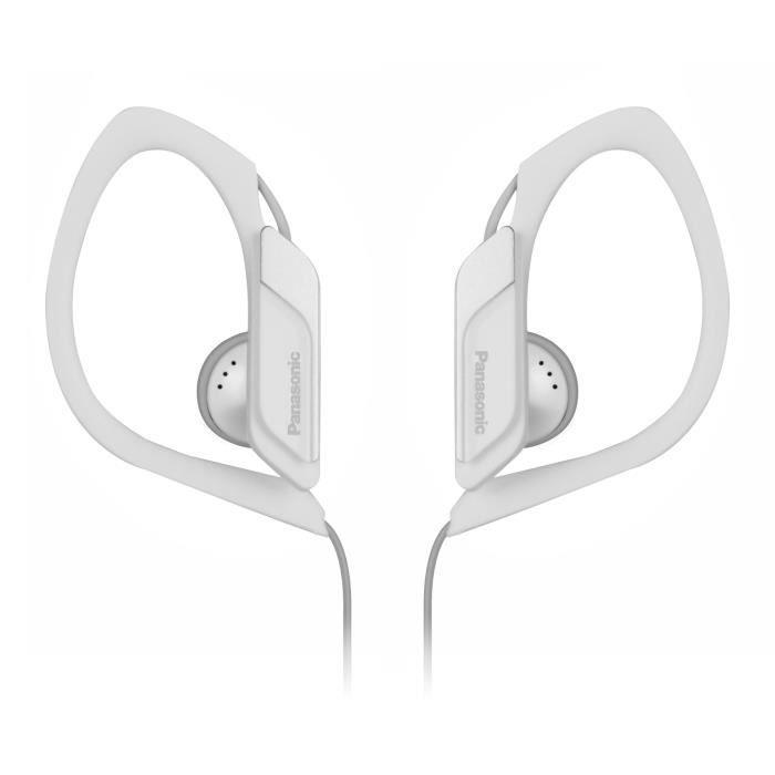 PANASONIC HS34E Écouteurs Sport semi-intra - Clip oreille - Résistants à l'eau - Blanc
