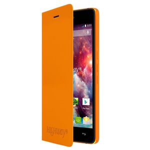 Wiko Folio Back cover pour Highway 4G clémentine