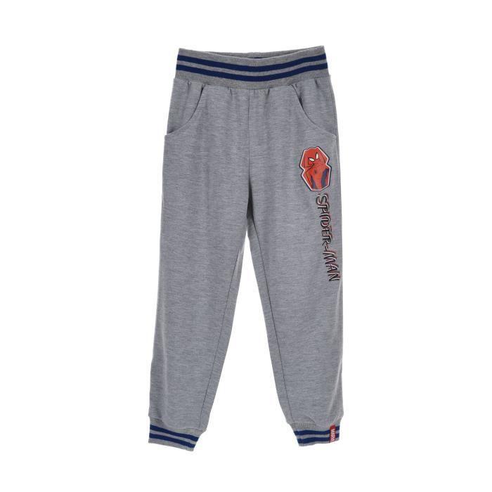 SPIDERMAN Pantalon de Jogging Gris Sérigraphié Enfant Garçon