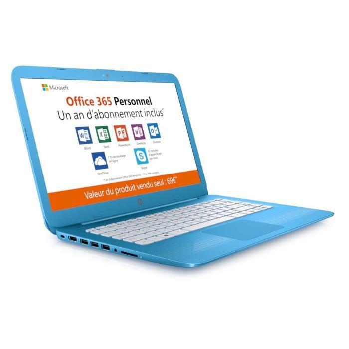"""HP PCSTREAM- 14ax024nf -14""""- 4Go RAM - Intel Celeron N3060 - Intel HD- Stockage 64 Go + l'abonnement à Office 365 Perso 1 an inclus.ORDINATEUR PORTABLE"""
