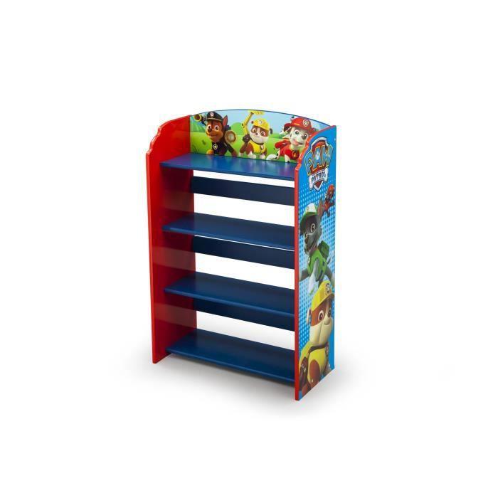 PAT PATROUILLE - Bibliothèque Enfant - Bleu et Multicolore