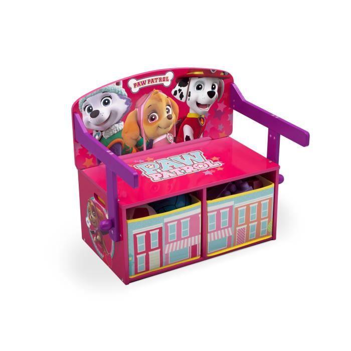 PAT PATROUILLE STELLA - Bureau/Banc Enfant Convertible avec Rangements
