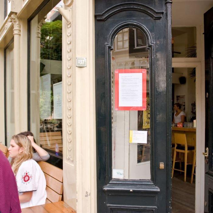 Porte affiche pour vitre - A4 - rouge