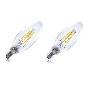 INTEGRAL LED Lot de 2 ampoules flamme E14 filament 4 W équivalent ? 36 W 2700 K 420 lm