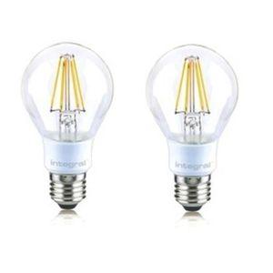 INTEGRAL LED Lot de 2 ampoules classic E27 filament 4,5 W équivalent ? 40 W 2700 K 470 lm