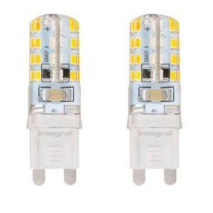 INTEGRAL LED Lot de 2 ampoules G9 2,5 W équivalent ? 20 W 4000 K 180 lm