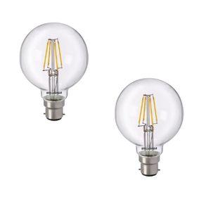 SYLVANIA Lot de 2 ampoules LED ? filament Toledo RT G80 B22 5 W équivalent ? 50 W