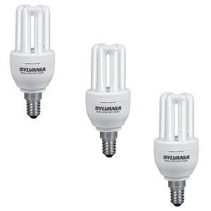 SYLVANIA Lot de 3 ampoules mini-Lynx fluo E14 11 W équivalent ? 50 W
