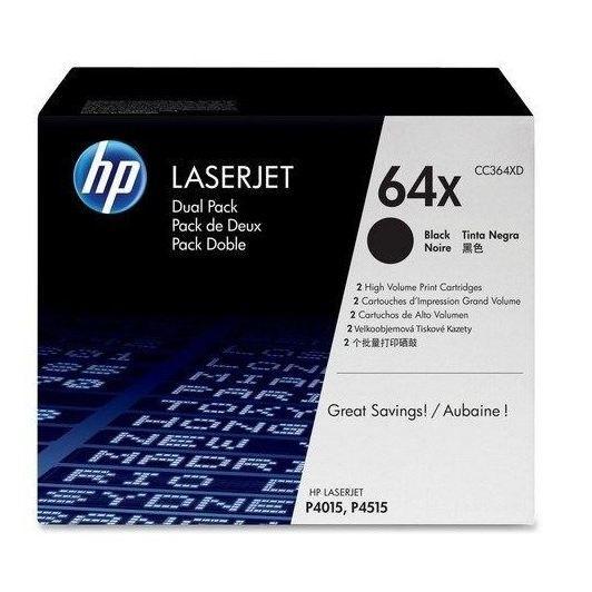 HP Pack de 2 Cartouches de Toner 64XD LaserJet Original - Noir - 2 x 24 000 pages