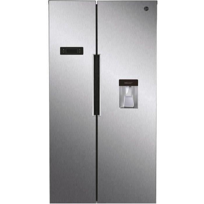 HOOVER HHSBSO6174XWD - Réfrigérateur congélateur Side by Side - 518L (341+177) - A++ - 90 cm x 177 c